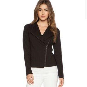 Vince Scuba Knit Moto Jacket Black Size S